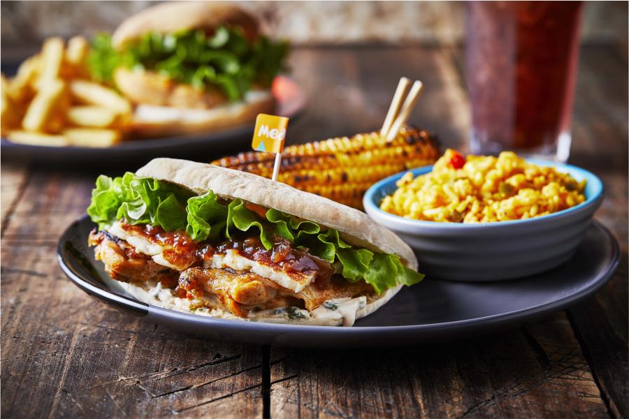 Nando's variety of burgers and pitas
