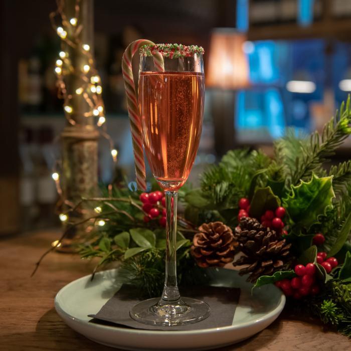 Berry Fizztive Cocktail at Rail House Nova