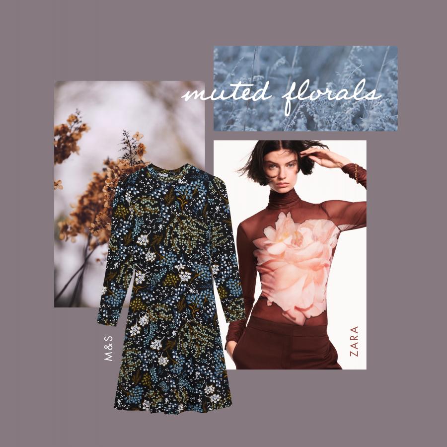 Autumn workwear muted florals