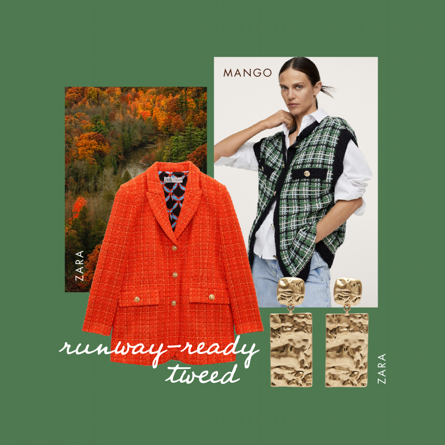 Autumn workwear runway ready tweed